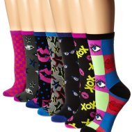 Betsey Johnson Women's Here's To Looking at You Crew Sock Gift Box 7-Pack — $6.61