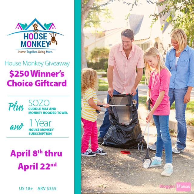 House Monkey - Winners Choice $250 Gift Card and Prize Pack Giveaway