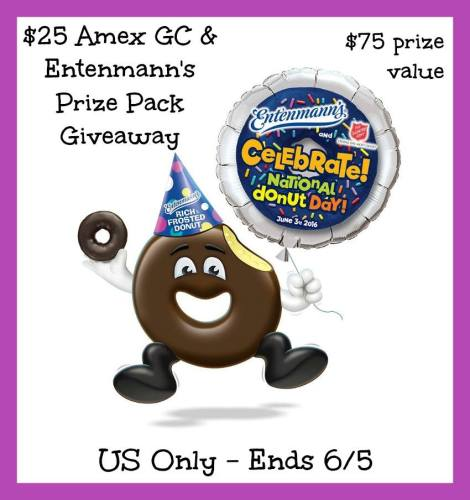 Entenmann's Prize Pack and $25 Amex Gift Card Giveaway