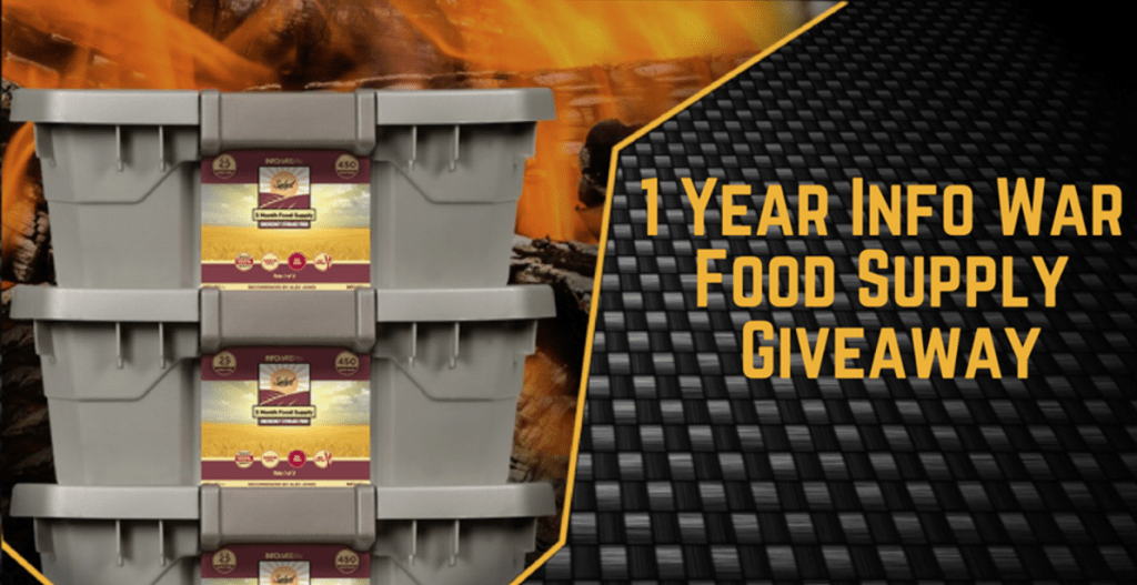 1 Year Info War Food Supply Sweepstakes