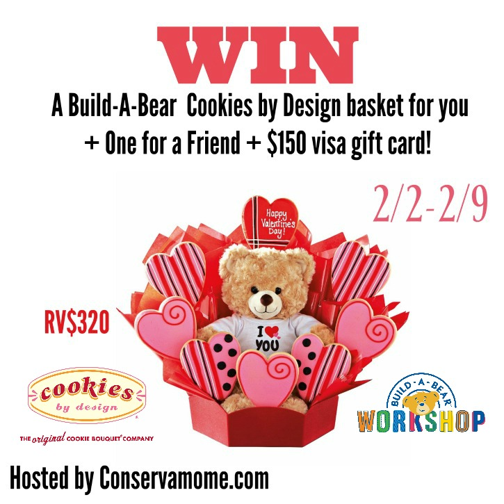 Build-A-Bear Cookies Basket and $150 Visa Gift Card For You and a Friend Giveaway