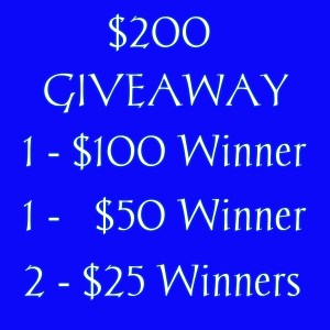 $200 Giveaway – EASY ENTRY!