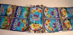 Juice Pouch Gift Bag - Sewing the Sides