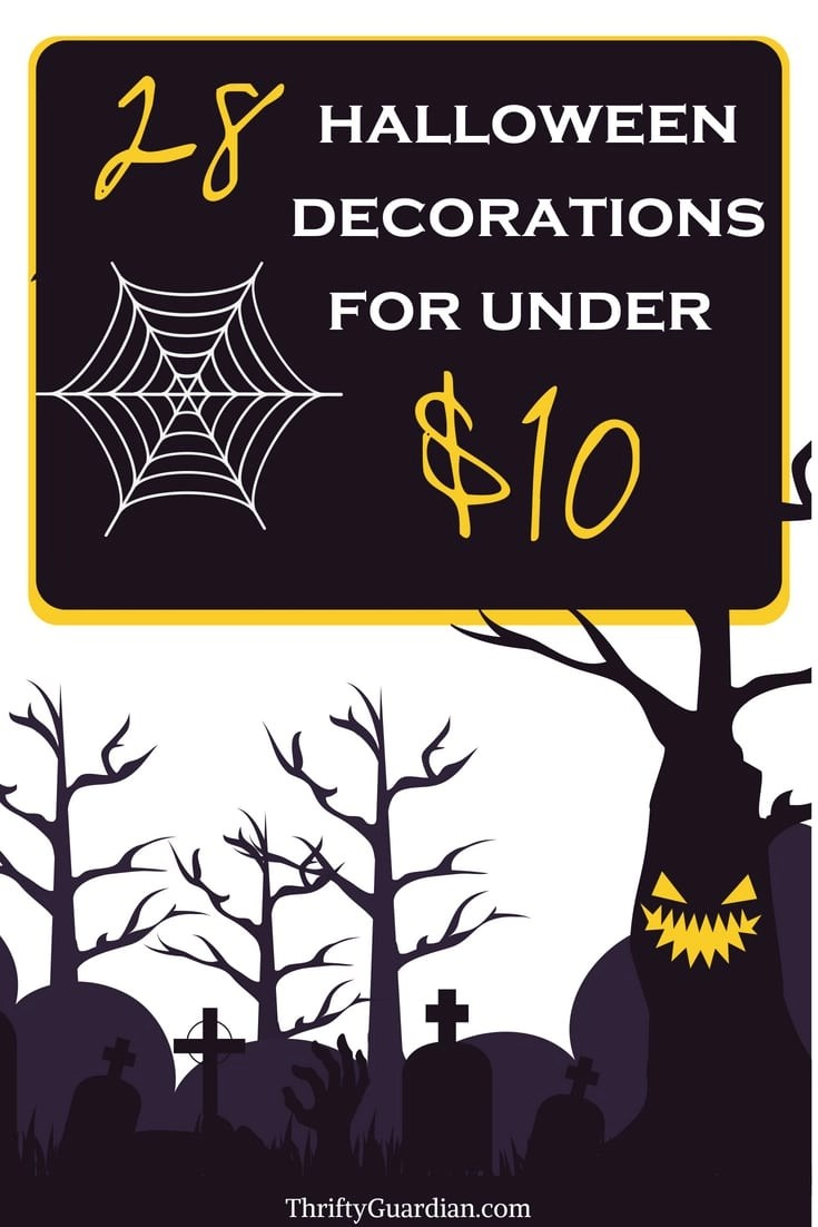 Decorate for Halloween on a budget! 28 Halloween decorations for under $10 shipped to you free, saving you tons of time and money! Frugal halloween diy, Halloween decor ideas, decorating for Halloween, thrifty Halloween ideas, Halloween party,