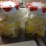 Preserved lemons, 70p a jar, or 37p if you can get Asda SP lemons