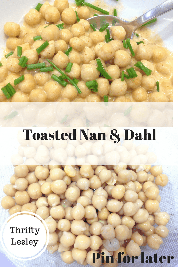 Toasted nan and dahl