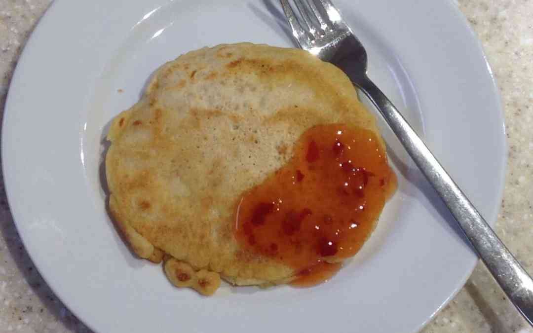 Meal Plan 8 – peanut butter and coconut pancakes with sweet chilli,  15p
