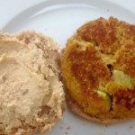 Now we're talking! An extremely yummy quinoa burger version, and some raspberry muffins