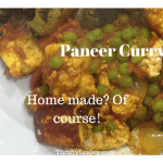 Paneer curry, using lovely home made paneer. 34p each and Yummy!