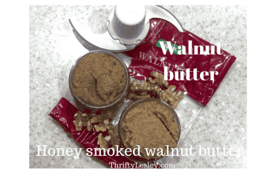Home made honey smoked walnut butter. Easy, cheap and delicious!
