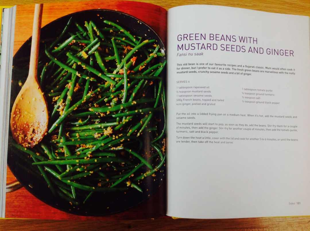 Green beans with mustard seeds