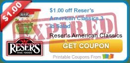 $1.00 off Reser's American Classics 3 lb Salad