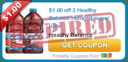$1.00 off 2 Healthy Balance reduced-sugar juice