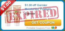 $1.00 off Garnier Moisturizer Product