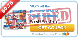$0.75 off the purchase of $5 of Weight Watchers