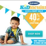 Old Navy 40 % Off #ONKidtacular Spring Sale