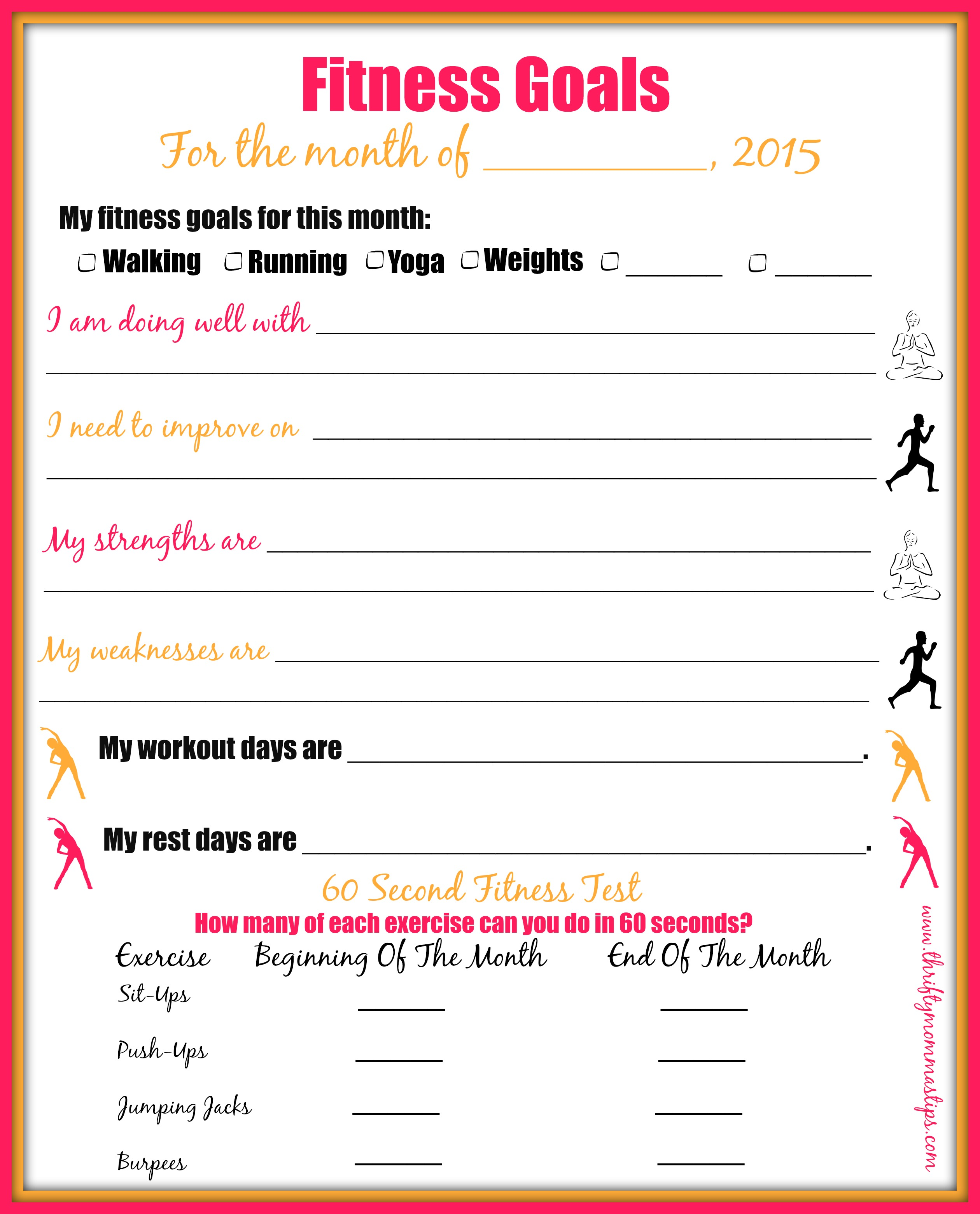 Fitness Goal Setting Worksheet