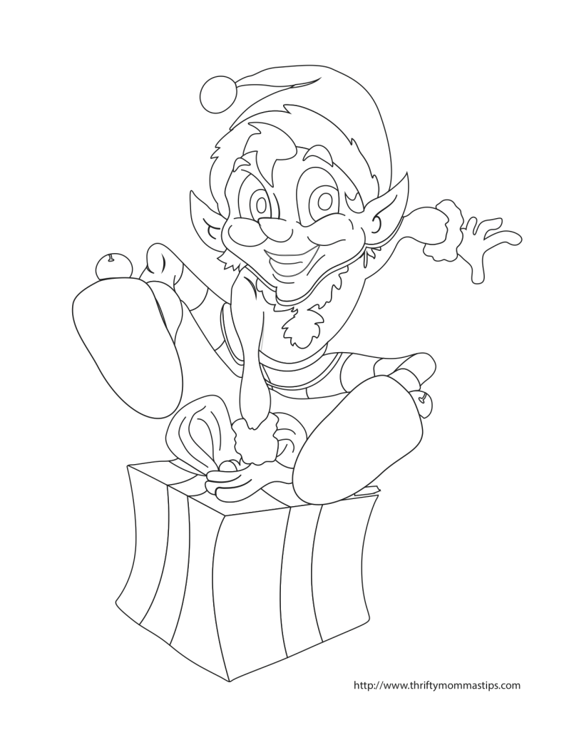 Elf Coloring Sheet