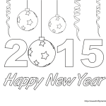 Happy New Year Coloring Page Free Printable