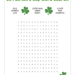 St Patrick's Day Word Search