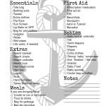 Beach and Pool Checklist Printable