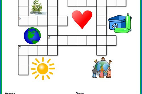 Earth Day Crossword Puzzle PS