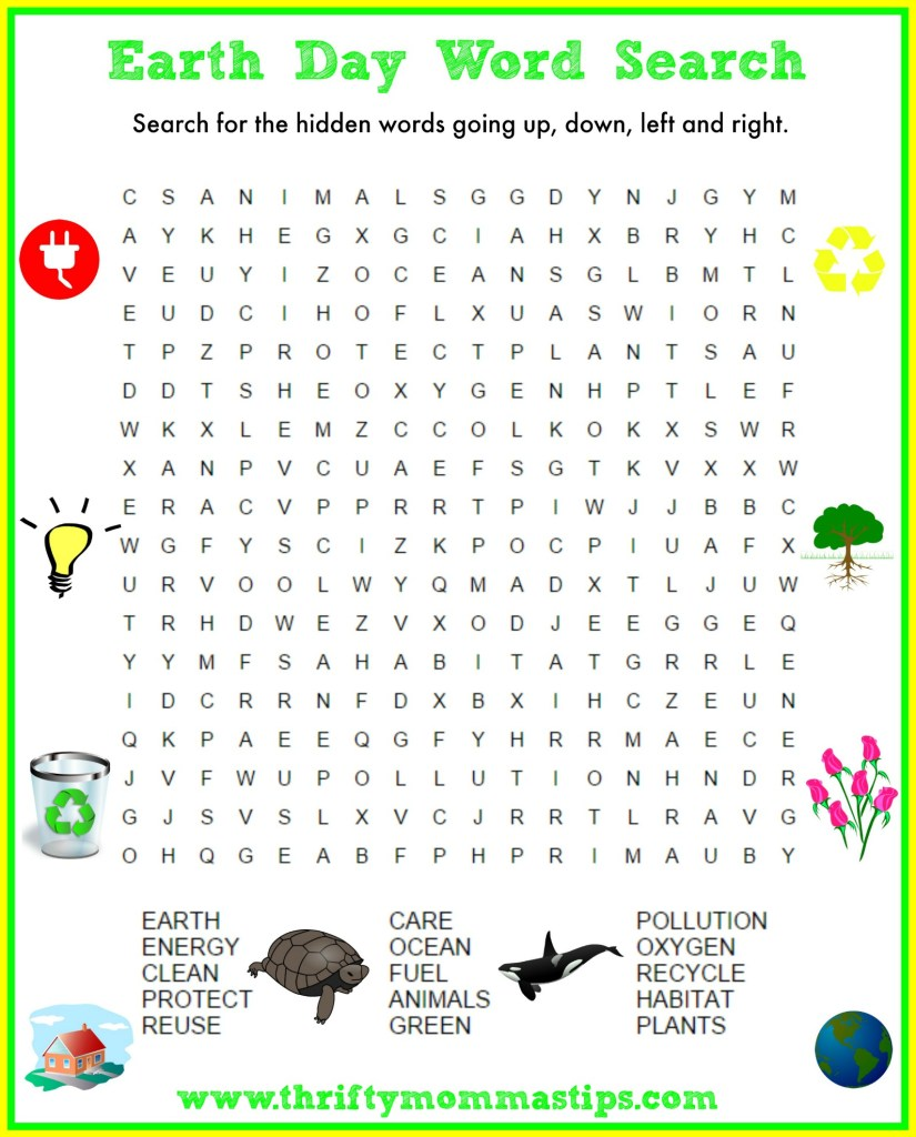 Paula earth day word search