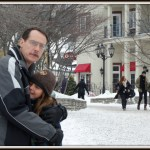 Hugs from Dad #WordlessWednesday #Travel #Tremblant