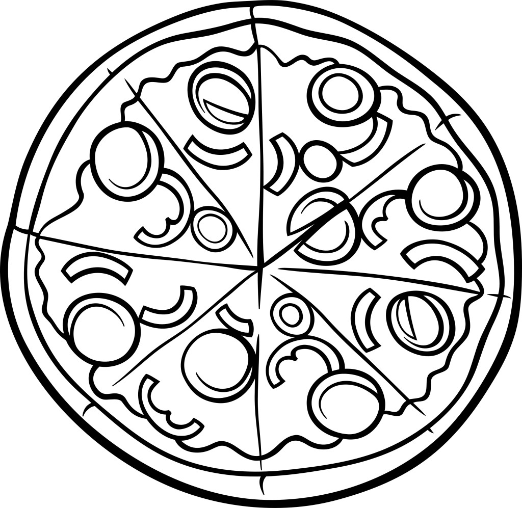 Pizza Coloring Page Printable
