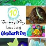 10 Sensory Play Ideas with Gelatin