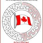 Canada Day Maze Printable Solution