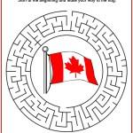 Canada Day Maze Printable