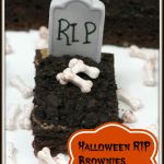 Haunting Halloween RIP Brownies Recipe