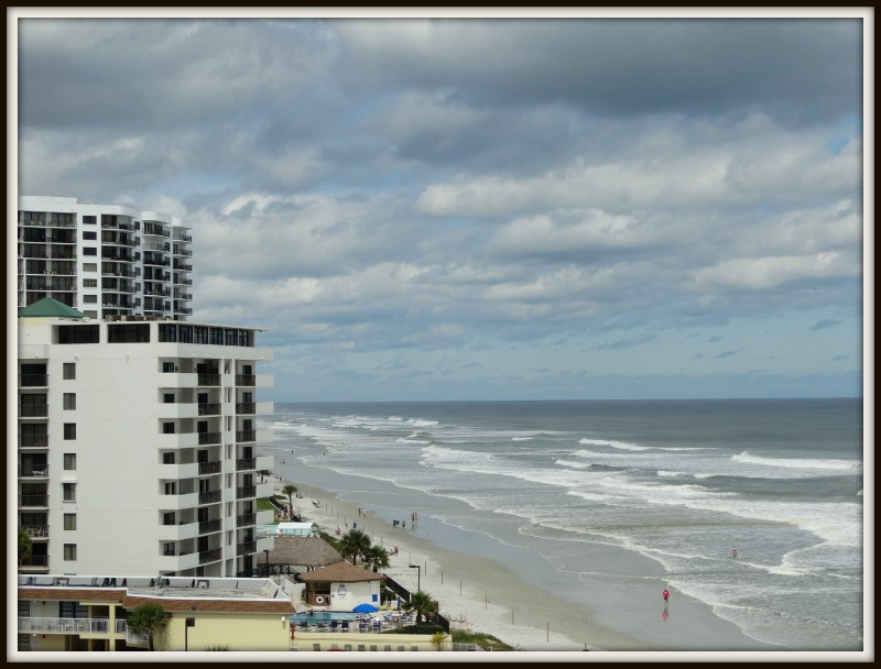 Daytona Beach strip view from the shores resort and spa