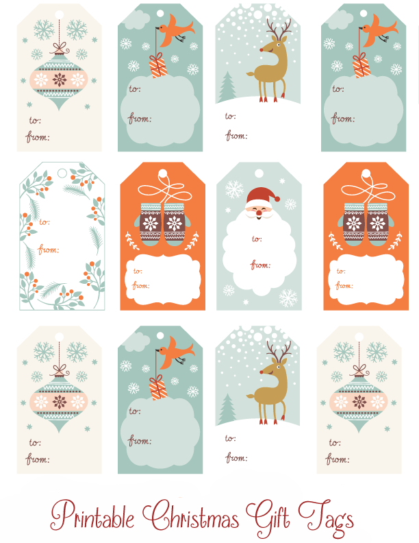 photo about Printable Christmas Gift Tags referred to as Adorable Printable Xmas Present Tags - Thrifty Mommas Pointers