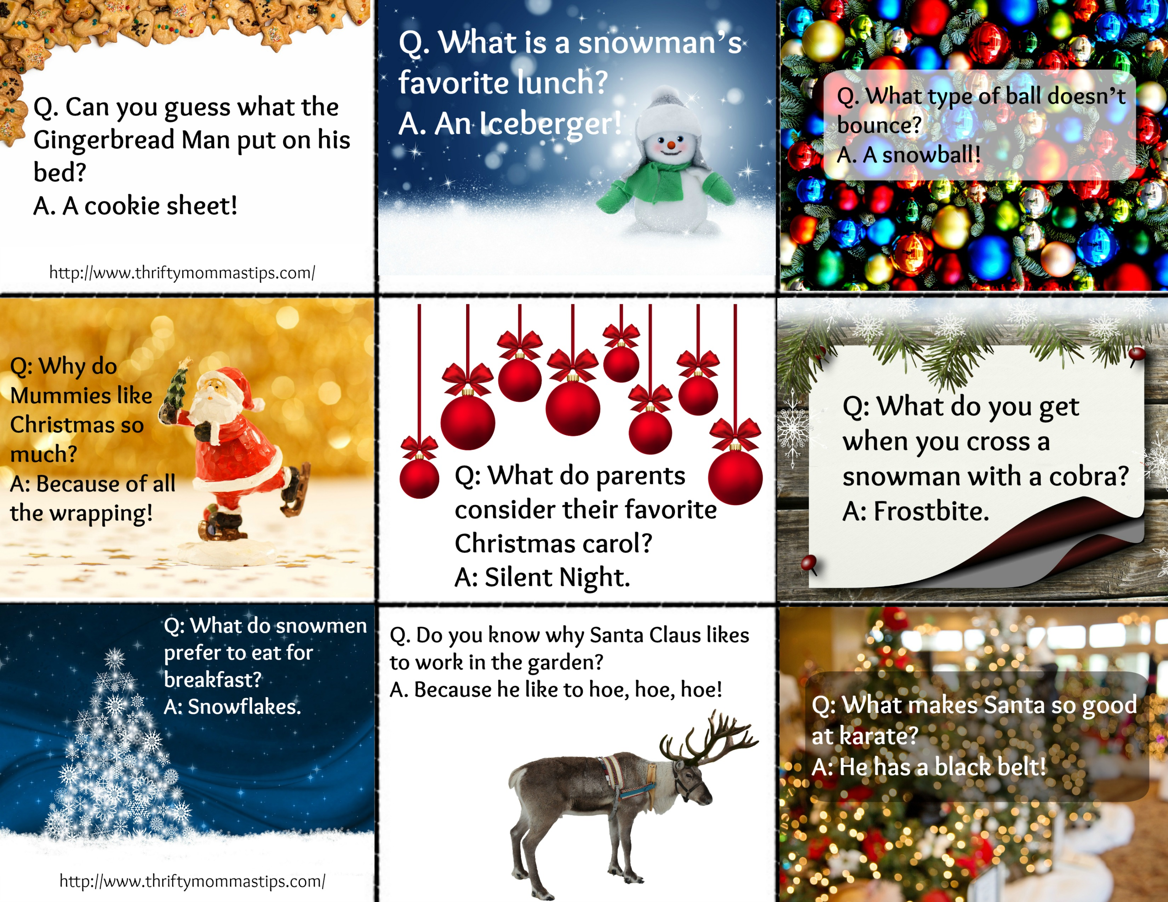 Printable Christmas Jokes For Kids