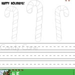 Candy Canes Colouring Page Printable