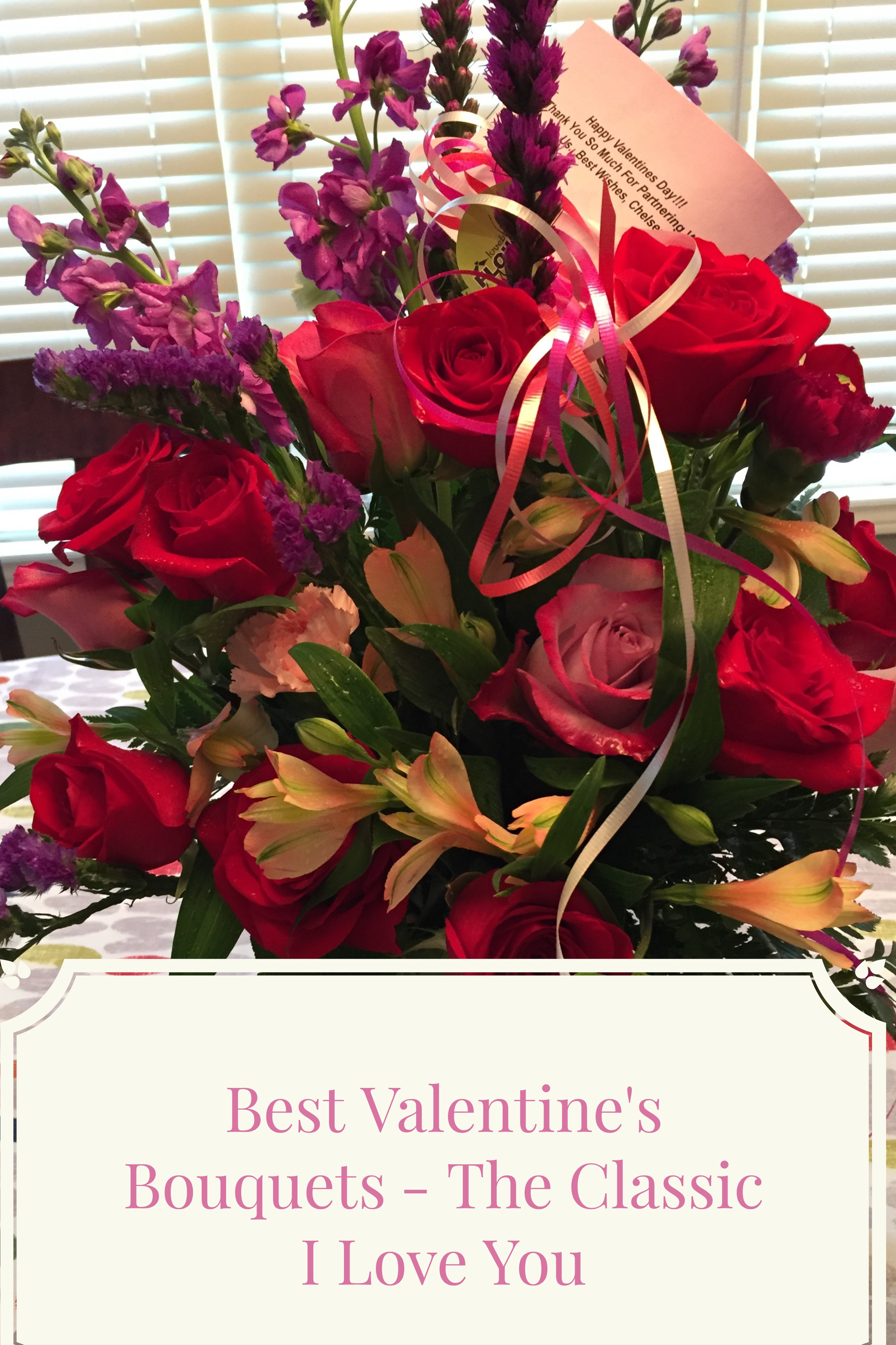 Valentines Day Bouquets The Classic I Love You Thrifty Mommas