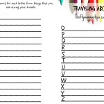 Traveling ABCs Roadtrip Printable Scavenger Hunt for All Ages