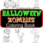 CUTEST Halloween Zombies Colouring Book