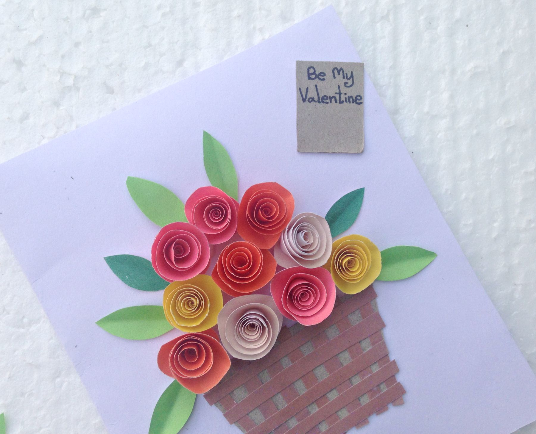 How To Make A Pretty Flower Basket Card Thrifty Mommas Tips
