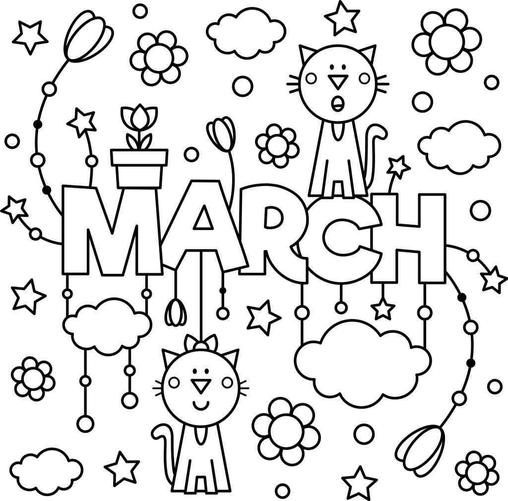 March_colouring_page