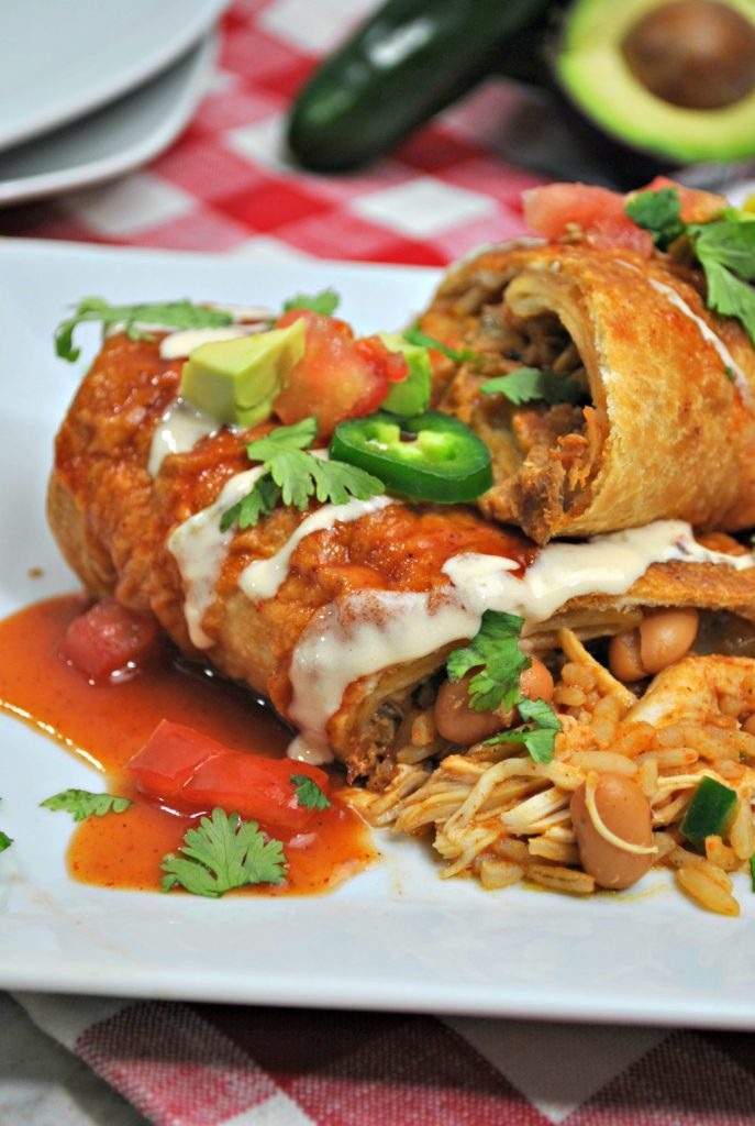 instant_pot_chicken_chimichangas