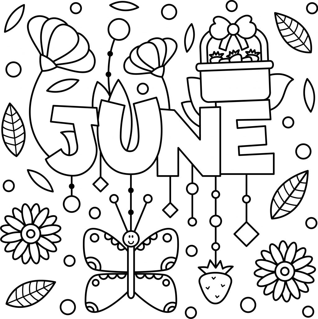 Cheery June Coloring Page Printable Thrifty Mommas Tips