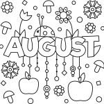 August Colouring Page Printable