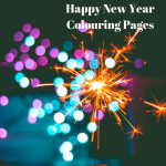 Happy New Year Printable Colouring Pages