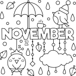 Free November Colouring Page
