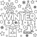 Welcome Winter Colouring Page