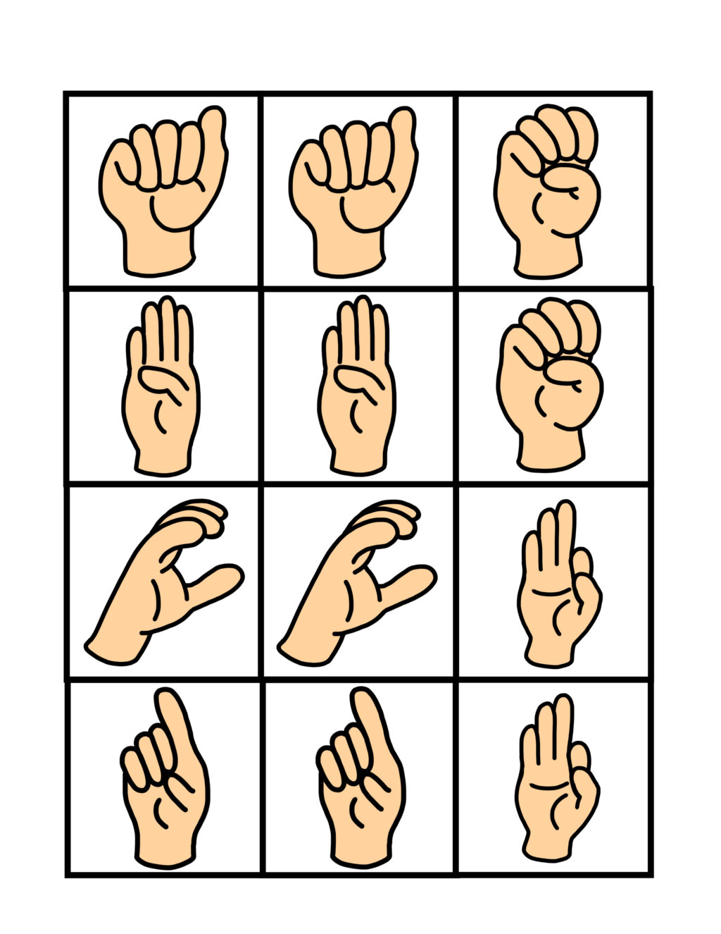 graphic relating to Sign Language Flash Cards Printable called Indicator Language Flash Playing cards and Memory Recreation - Thrifty Mommas Suggestions