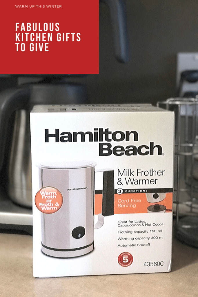 kitchen gifts Hamilton Beach milk frother